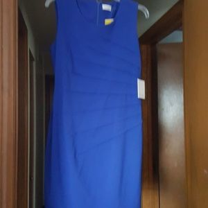 58e80a73 Calvin Klein Dresses - NWT Calvin Klein Sunburst Royal Blue Sheath Dress